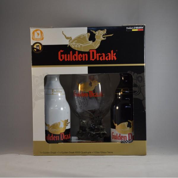 Gulden draak 2 bottles + glass