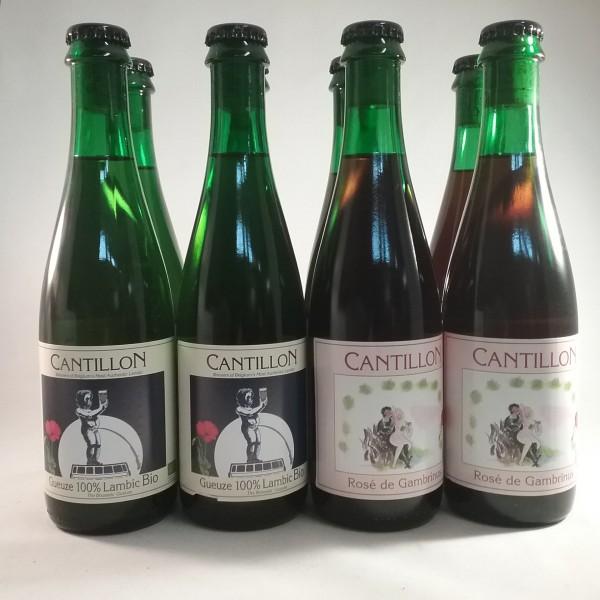 Cantillon geuze + rose de gambrinus pack 37.5 cl