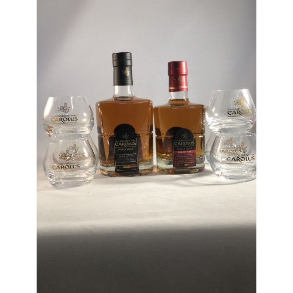 Gouden carolus single malt whisky pack