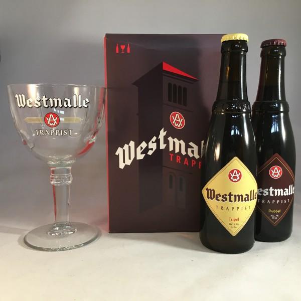 Westmalle gift box 2 bottles + glass